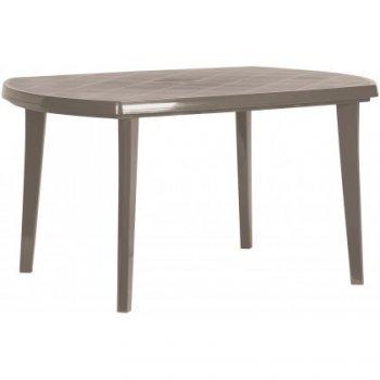 Plastový oválný stůl ELISE - cappuccino R35577