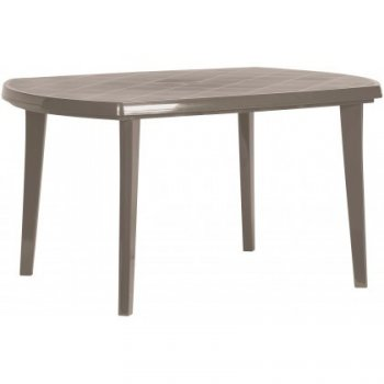 Plastový oválný stůl ELISE - cappuccino