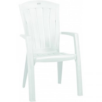 Plastové křeslo SANTORINI - bílá R35552