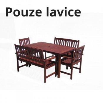 Dřevěná lavice MALAY R35317