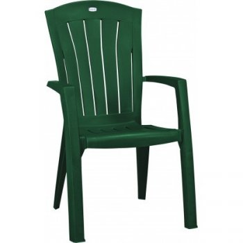 Plastové křeslo SANTORINI - zelené R35553