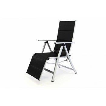 DELUXE polohovatelná zahradní židle s opěrkou nohou D35364