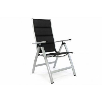 Luxusní zahradní židle s polstrováním, černá D35211