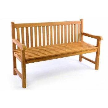 Zahradní lavice DIVERO 3-místná masiv 150 cm D34977