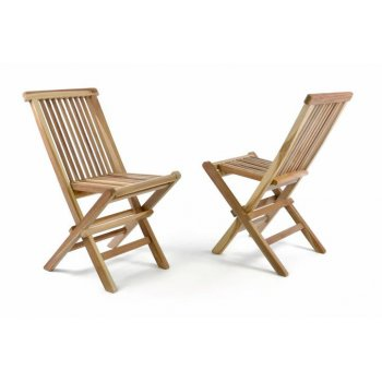 Zahradní sada 2 dětských dřevěných židlí DIVERO D35469