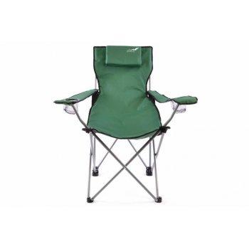 Skládací kempingová židle DIVERO s polštářkem - zelená D35213