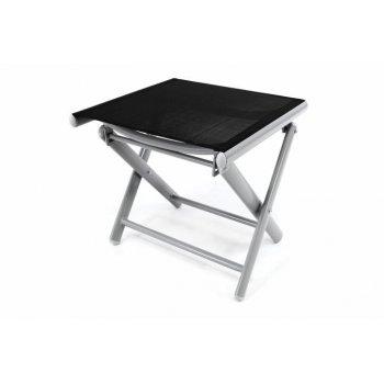 Hliníková zahradní stolička - skládací černá D35549