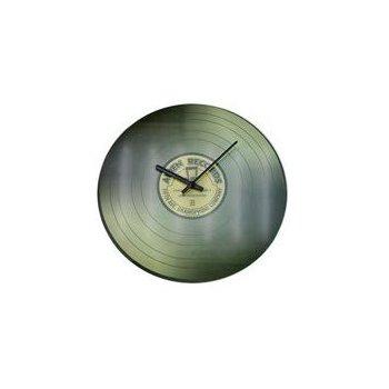 Nástěnné skleněné hodiny VINYL 35 cm - ŠEDÉ