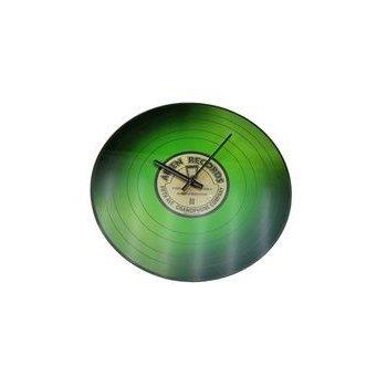 Nástěnné skleněné hodiny VINYL 35 cm - ZELENÉ AM35775