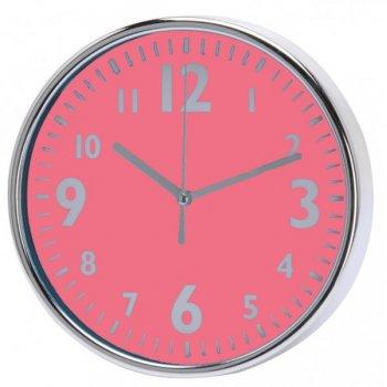 Nástěnné hodiny 20 x 3,6 cm - RŮŽOVÁ AM35769