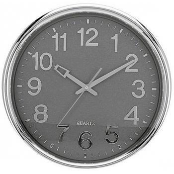 Nástěnné hodiny KLASIC 37 cm - SVĚTLE ŠEDÉ