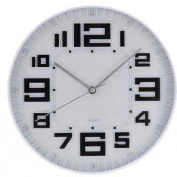 Nástěnné hodiny skleněné RELIÉF 30 cm - ČERNÁ AM35648