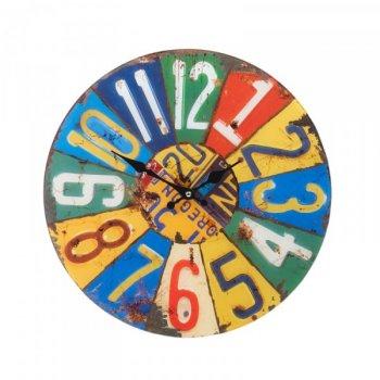 Kulaté nástěnné hodiny Shabby Chic 38 cm - SUMMER
