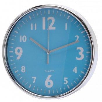 Nástěnné hodiny 20 x 3,6 cm - MODRÉ AM35244