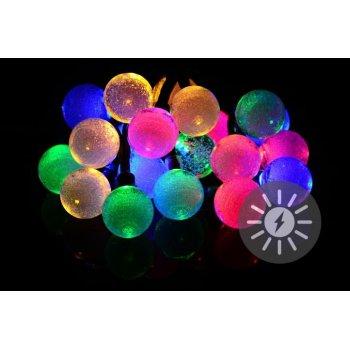 Solární světelný řetěz 20 LED barevné - blikající funkce D36746