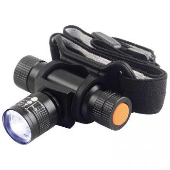 Svítilna čelová TESLA Zoom 140L, celokovová, LED 3W Cree E29636