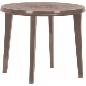 Plastový kulatý stlů LISA - cappuccino
