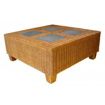 TOSCA ratanový stůl - lávové kameny HI33087