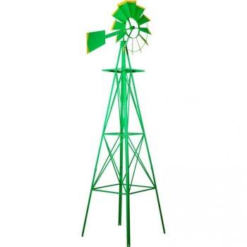 Větrný mlýn v US sytlu - zelená 245 cm M35560