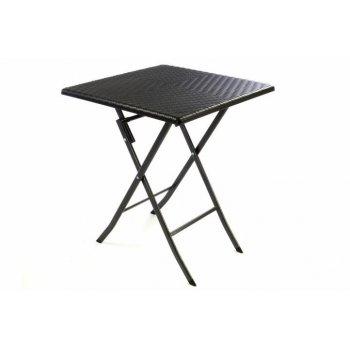 Skládací zahradní stůl ratanového vzhledu 75 x 61 x 61 cm D37109