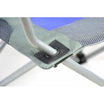 Set skládací kempingová rybářská židle Divero Deluxe 2 kusy - modro/šedá