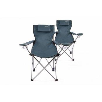 Kempingová sada 2 ks skládacích židlí DIVERO - modrá D35954
