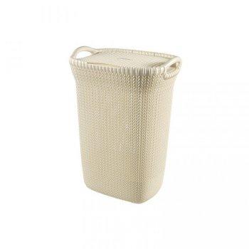 Koš na prádlo KNIT - 57L - krémový R37009
