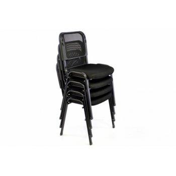 Sada stohovatelné kongresové židle 2 kusy - černá