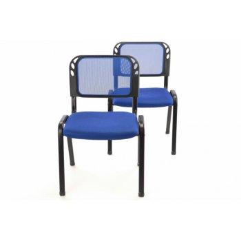 Sada stohovatelné kongresové židle 2 kusy - modrá