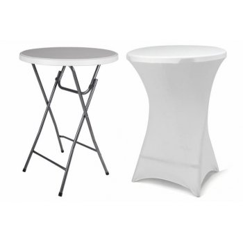 Párty stolek BISTRO skládací vč. elastického potahu 80 x 80 x 110 cm D38402