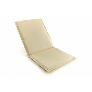 Polstrování na nízké zahradní židle - krémové