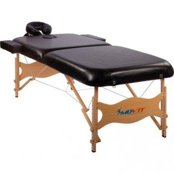 Přenosné masážní lehátko DELUXE MOVIT černé 185 x 80 cm M01646