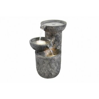 Zahradní fontána kašna - Tři misky s osvětlením D30963