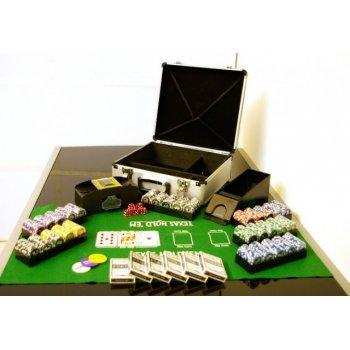 Poker set 600 ks žetonů OCEAN s příslušenstvím D01032