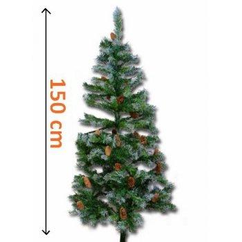 Umělý vánoční stromek se šiškami - 150 cm D02158