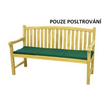 Třímístné polstrování na zahradní lavici - zelené D00673