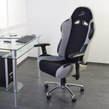 Kancelářská židle stříbrno-šedo-černá M01303