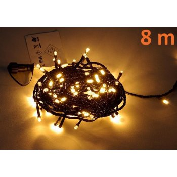 diLED světelný řetěz - 100 LED teple bílá D02174