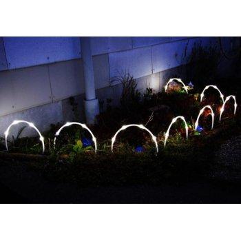 Zahradní solární LED osvětlení oblouk - 8 ks