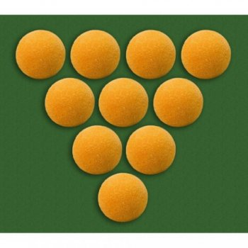 Míčky k fotbálku oranžové 10 ks 35 mm M01448