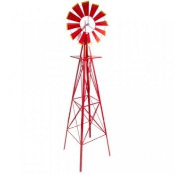 Větrný mlýn červený, 245 cm M02647