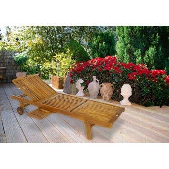 Luxusní lehátko z akátového dřeva D00353