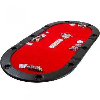 Poker podložka skládací červená M09494