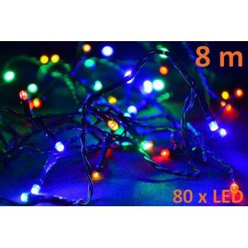 Vánoční LED osvětlení 8 m - barevné, 80 diod D05957