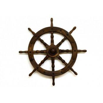 Dřevěné kormidlo Garth 80 cm - stylová rustikální dekorace D00239