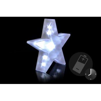 Vánoční dekorace - Světelná hvězda - 20 LED, 35 cm D29216