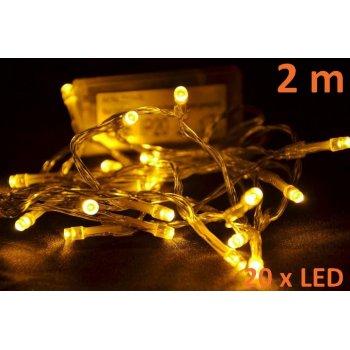 Vánoční LED osvětlení 2 m - teple bílé, 20 diod D05958