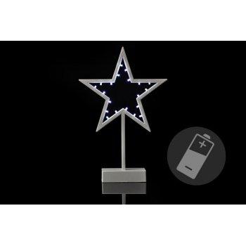 Vánoční dekorace - hvězda - 38 cm, 20 LED