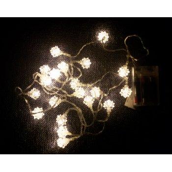Vánoční dekorace - Sněhová hvězda - 20 LED teple bílá