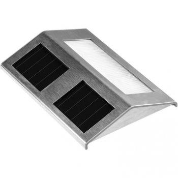 Solární zahradní led osvětlení nerez M01306